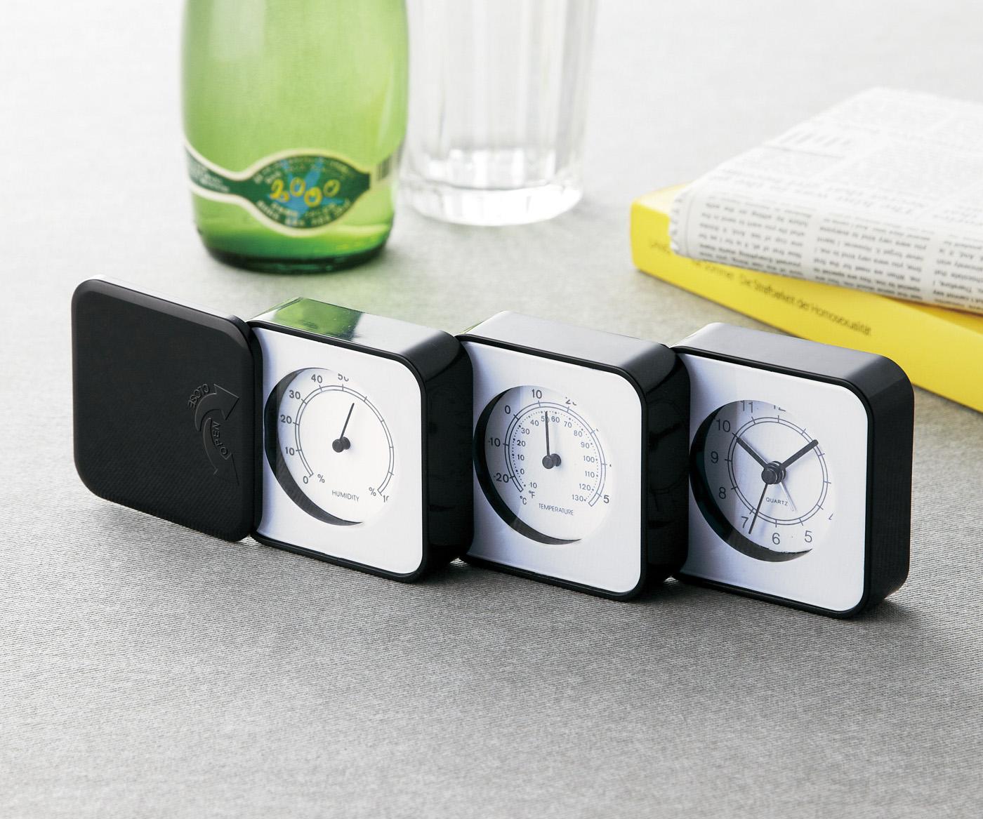 コレひとつで温度、湿度も分かるアラーム付き温湿度時計